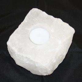 theelichthouder in wit bergkristal