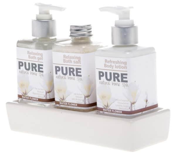 Pure giftset Natural Home Spa Keramieken houder