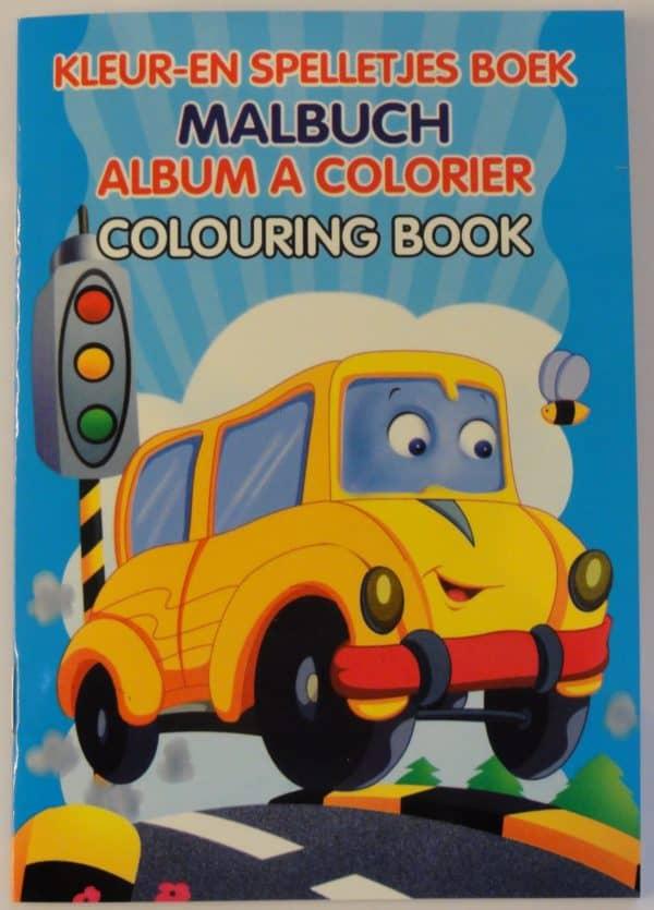 Mini kleurboek Schoolbus