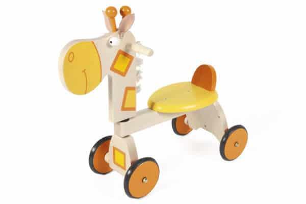 scratch loopfiets 4 wielen giraf groot