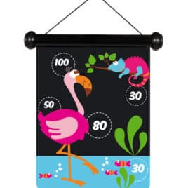 scratch magnetische darts zoo flamingo