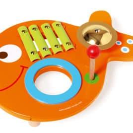 Scratch muziektafel vis