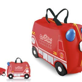 trunki ride on brandweerwagen voorkant en open