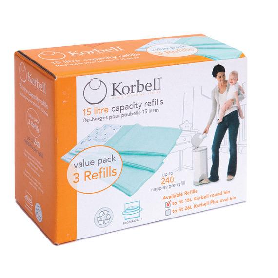 Korbell 3 Pack Refill 250DR3B