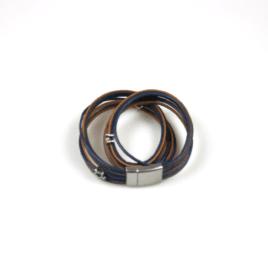 Wikkelarmband Blauw Bruin