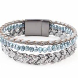 Armband Braid Blauw