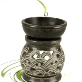 Olieverdamper Keltische Knoop Zwart Zeepsteen