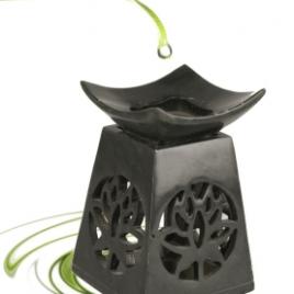 Olieverdamper Lotus Zwart Zeepsteen