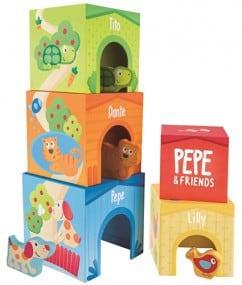 Hape speelgoed bouwtoren kubussen 1